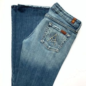 7 for all mankind A pocket boot cut jeans denim